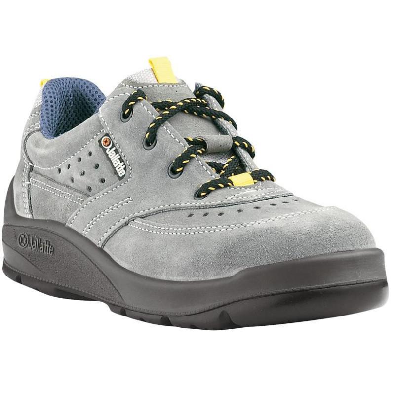 Chaussures de sécurité JALMATCH SAS cuir velours gris - J0351