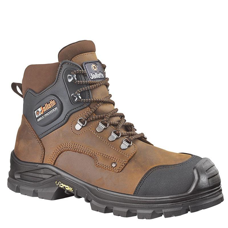 Chaussures de sécurité JALIROK SAS NEW cuir marron - JALLATTE