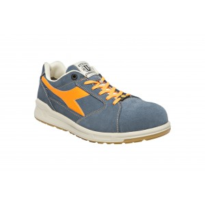 CHAUSSURES DE SECURITE D-JUMP LOW PRO  S3 BLEU DENIM/ORANGE DIADORA UTILITY