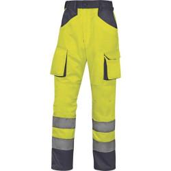 Pantalon WORKWEAR M2PHV  haute visibilité jaune fluo/bleu marine