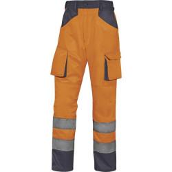 Pantalon WORKWEAR M2PHV haute visibilité orange fluo/bleu marine