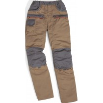 Pantalon de travail MACH CORPORATE beige gris