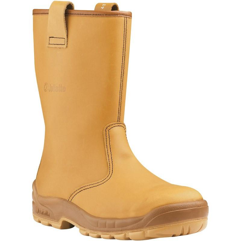 Bottes de sécurité JALARTIC SAS cuir FOURREES beige - J0257