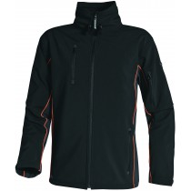 Veste softshell HORTEN noire orange