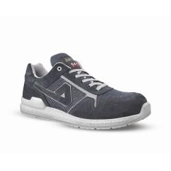 Chaussures de sécurité SNOOP cuir velours gris - ABI07