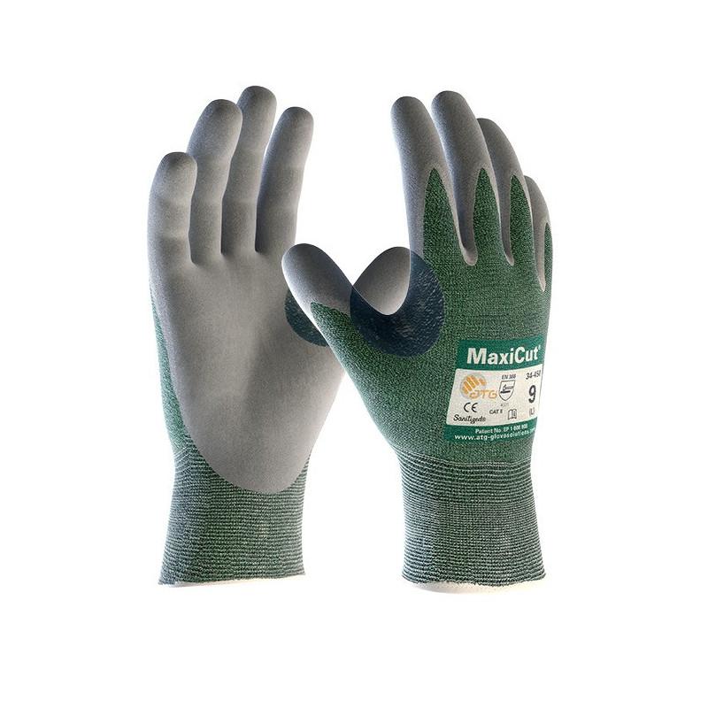 Gant ATG MaxiCut gris/vert - 34-450