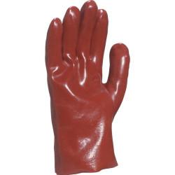 Gant pétrolier PVC 27 cm rouge - PVC7327